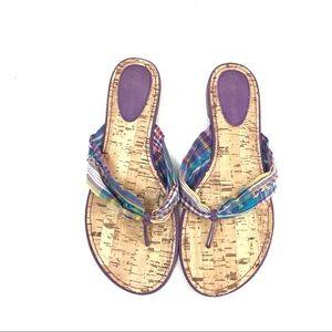 No Boundaries Thong Sandals Size 10 Purple